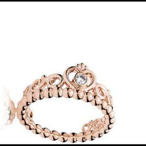 My Princess Pandora ring, Rose Gold,Cubic Zirconia